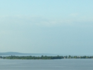 Crossing from Wisconsin into Minnesota with a view of Lake Superior